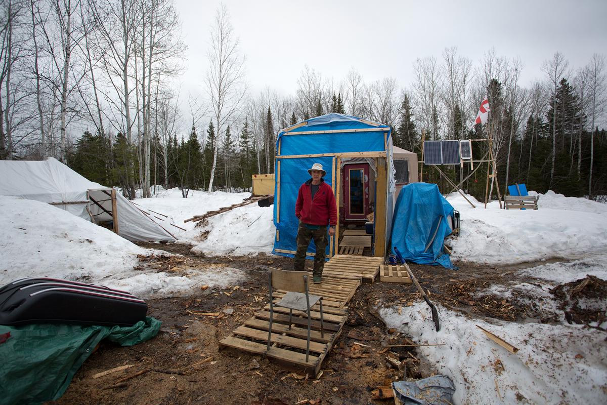 Le camp à la fin de l'hiver 2018